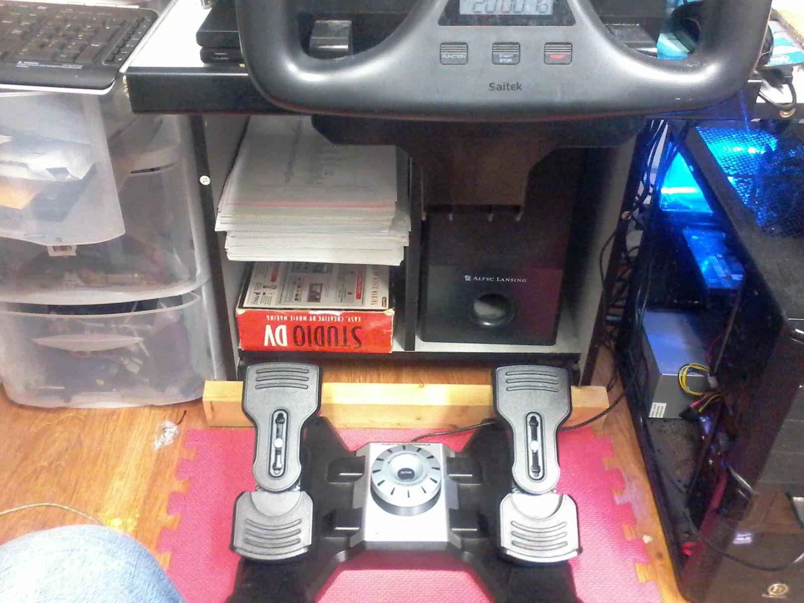 Saitek rudder pedals